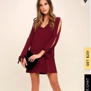 Lulu's Dresses - Lulu's Glory of Love Mauve Shift Dress